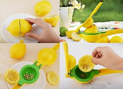 Premium Quality Metal Lemon Squeezer Hand Held Juicer for Lemon Lime Orange