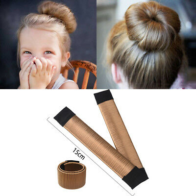 Women Girls Hair Styling Donut Former Foam French Twist Magic Bun Maker.tool