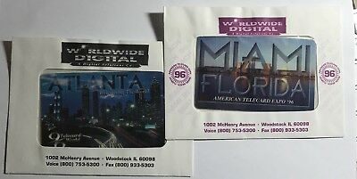 "1996 ""Miami"" & ""Atlanta"" Phone cards"