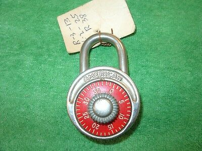 Vintage American Lock Co. Combination Padlock With Combo Made in USA