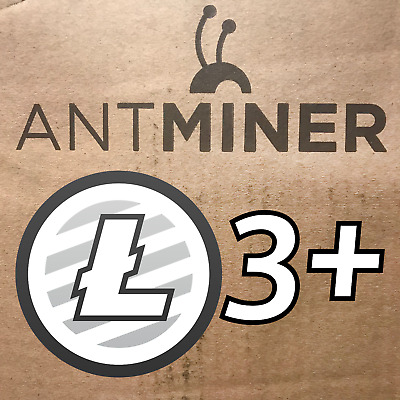 30x NEW LTC Bitmain Antminer L3+ 504MH/s Litecoin ASIC Miners ~USA FREE Shipping