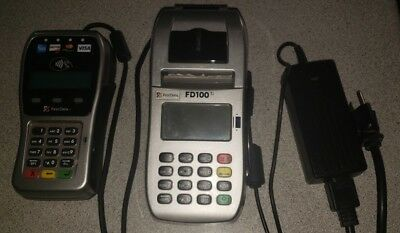 First Data FD100Ti IP/Dial Machine and FD35 EMV Pin Pad credit card processing