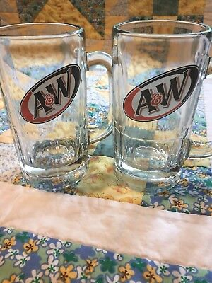A And W Root Beer Mugs 2 Piece Set Anchor Hocking