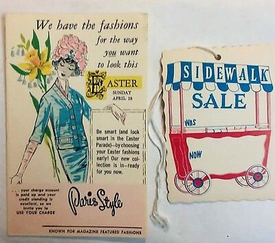 Vintage item from the Old Paris Style Clothing Store Seymour Indiana