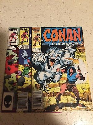 Conan The Barbarian Marvel 25Th Anniversary Comic 179 -180 -181