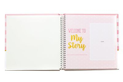 LovelySprouts First Year Baby Memory Book Journal Girl Pink Gift Idea Keepsake