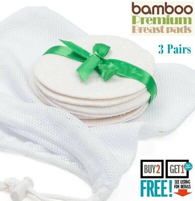 6 x Breastfeeding Pads Nursing Set Reusable Breast Washable Maternity Bamboo UK
