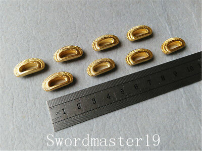 8 Big Sized Golden Shitodome for Japanese Katana Wakizashi Tanto Saya Kurikata
