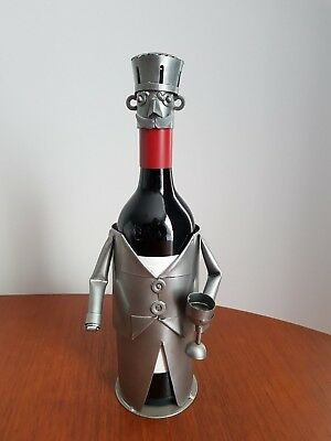 Metallic Silver Chef Wine Bottle Cover Wine Cover in shape of Cook Chef Waiter