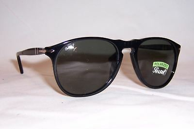 4ed59eb156 NEW Persol Sunglasses PO 9649 S 95 58 BLACK GREEN POLARIZED 55mm AUTHENTIC