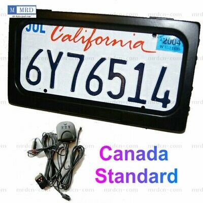 Canada Auto Hide Shutter License Plate Frame Device Stealth Front & Rear Remote