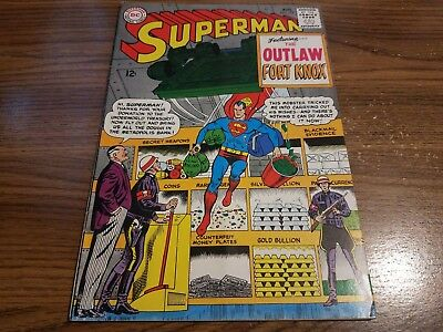 1965 Superman #179 The Outlaw Fort Knox 12 Cent Silver Age DC Comic Book GD-VG