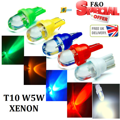 Upto 10X T10 W5W Push Wedge Capless Xenon Side Light Bulbs 1 Smd Led 12V