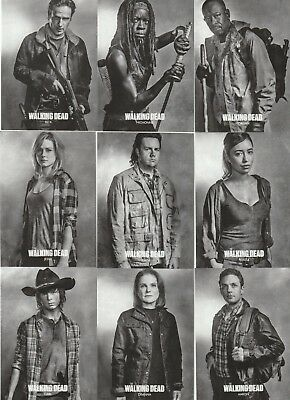 The Walking Dead Season 6 Series 1 Profiles 10-Card Promo Set Rick Carl Morgan