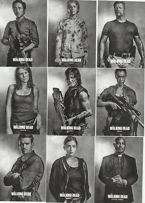 The Walking Dead Season 6 Series 2 Profiles 10-Card Promo Set Glenn Carol Daryl