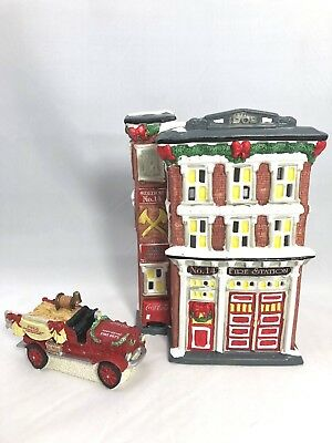 Coca-Cola Town Square Collection ~ Station #14 ~ Station #14 Firetruck