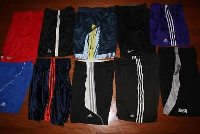 Lot Of 10 Adidas Adult Mens Athletic Shorts Soccer Running Nike Nba Size Medium