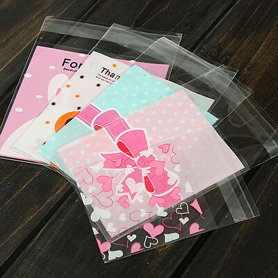 100X Cute Clear Cellophane Cookies Craft Wedding Birthday Candy Party Gift BagPB