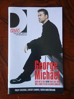 George Michae+Rare+Magazine+25Live+Usa+Tour+2008+Gay+Promo+Interview+Wham!