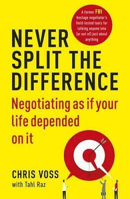 Never Split the Difference by Chris Voss New Paperback Book
