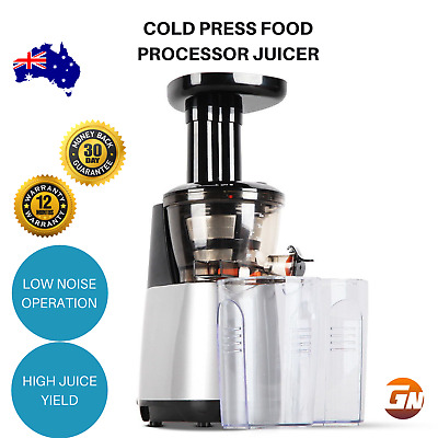 Food Processor Cold Press Mixer Juicer Fruit Vegetable Extractor - Silver