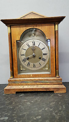 Vintage Walnut 8 Day Bracket Clock with Strike