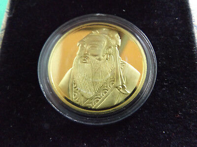 Confucius Gold Plated Medallion