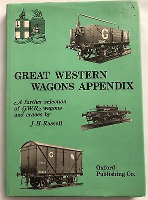 Great Western Wagon Appendix - J.h. Russell - Hardcover Book GWR BR