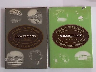 Great Western Miscellany Vol 1 & 2 - J.H. Russell GWR Hardcover Book Books