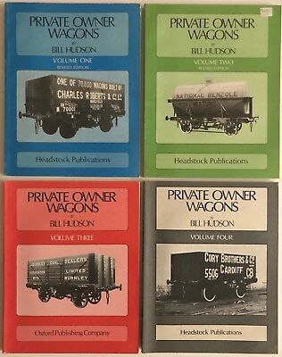Private Owner Wagons - Phil Hudson - Complete Volumes 1 2 3 4