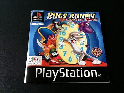 Bugs Bunny Lost In Time Manual - Sony PlayStation PS1 - Instructions Manual Only
