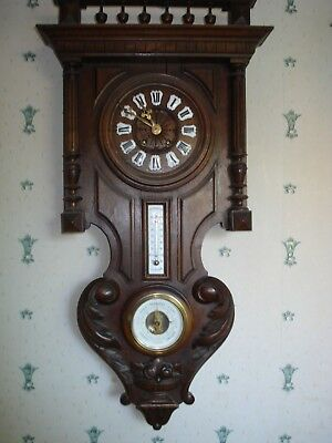 """Large Carved French Vineyard Clock 32"""" Tall Parts Spares"""
