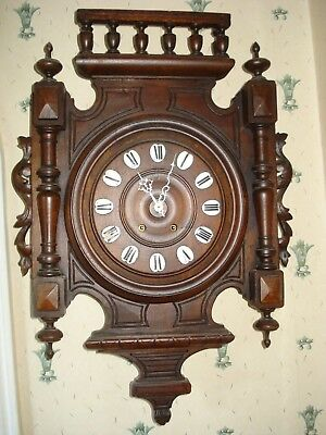 """Large Carved French Vineyard Clock 22 1/2"""" Tall Parts Spares"""