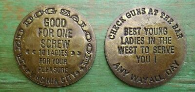 The Red Dog Saloon Whore House Brothel Cat House Token