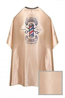 Barber Shop Cape Gown Premium Quality Salons Hairdressers Barbers Gold Satin