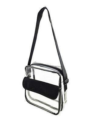 NFL Approved Clear Messenger Bag / Event Stadium Security Compliant / FREE SHIP