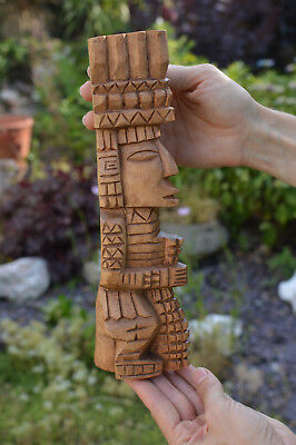 Vintage Latin American Art Hand Carved Wooden Statue Sculpture ~29cm Tall