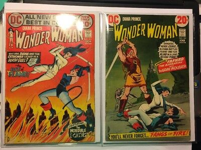 Diana Prince WONDER WOMAN # 201 AND # 202 LOT HARD TO FIND COMICS BRONZE AGE