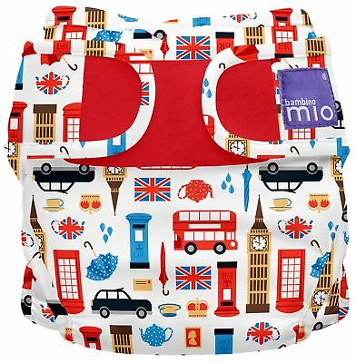 Bambino Mio MIOSOFT REUSABLE NAPPY COVER PACK - GREAT BRITAIN - SIZE 2 BNIP