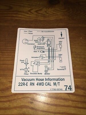 Awesome 1985 Toyota Pickup 4Runner Truck Vacuum Diagram Decal Repro Sticker Wiring 101 Picalhutpaaxxcnl