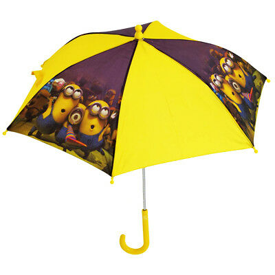 Despicable Me Minions Kids Yellow Umbrella Character Picture Winter Rain Brolly