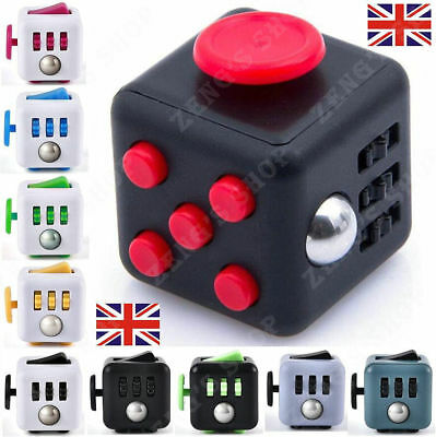 Fidget Cube Children Special Adults Stress Anxiety Relief Desk Fiddle ADHD Toy