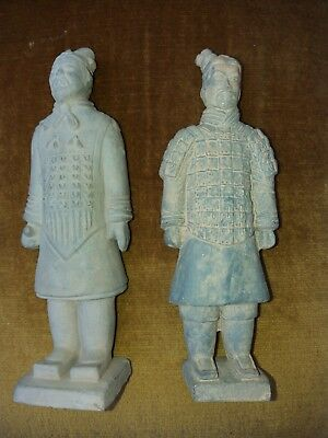 Chinese Warrior Soldier Emperor Statue Figure X 2