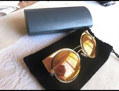 a00d2eb99c FENDI RUNWAY MIRRORED Cutout Sunglasses