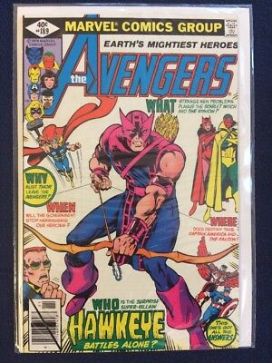 The Avengers # 189 Marvel Comics 1979 VF Bronze Age Cents Edition