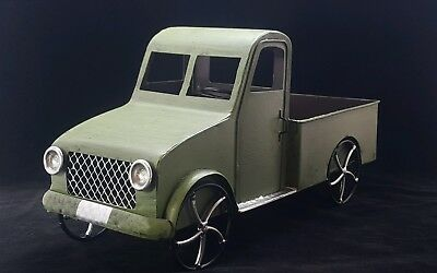 Model Truck Green Metal Farmhouse Country Rustic Large
