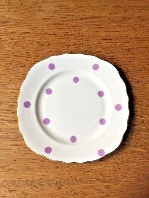 Royal Vale Polka Dot Vintage Bone China Tea Plate Vintage Purple Dots £7.99 Nice