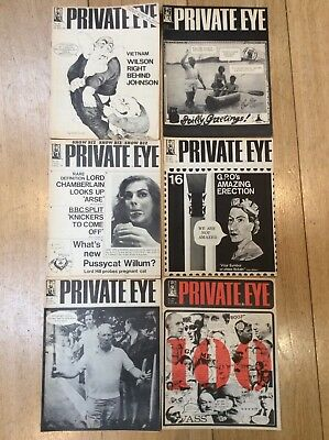 Private Eye Very Early (1964) Copies  Nos  88 Then 96 - 100 Six In Total