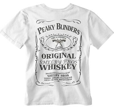 1008edf51bb Peaky Blinders T-shirt Whisky Bottle Design gangster garrison pub tee bbc