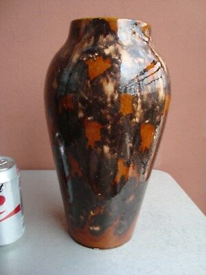 "Brush McCoy Onyx Brown 12"" Vase"